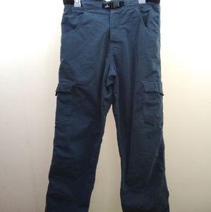 Prana blue cargo belted pants M